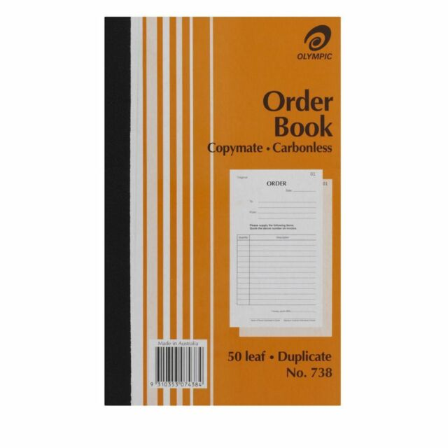 Olympic 738 Order Book Carbonless Duplicates 125 x 200mm - 140862