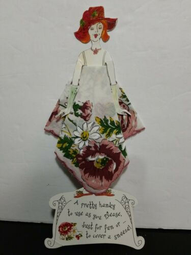 NEW VINTAGE TWO'S COMPANY HANDKERCHIEF PAPER DOLL