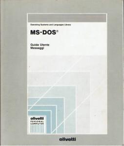 MS-DOS - GUIDA OPERATIVA MS-DS 3.30 PER COMPUTER OLIVETTI - EDIZ. OLIVETTI 1989 - Italia - MS-DOS - GUIDA OPERATIVA MS-DS 3.30 PER COMPUTER OLIVETTI - EDIZ. OLIVETTI 1989 - Italia