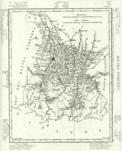 Hautes-pyrénées. Hautes-pyrénées Département. Tardieu 1830 Old Antique Map-afficher Le Titre D'origine