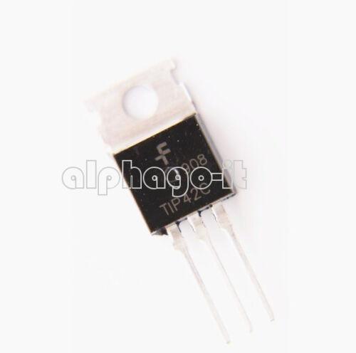 5 PCS NEW TIP42C TIP42 PNP TRANSISTOR TO-220 100V 6A