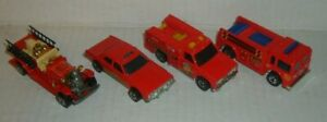 4-Vintage-Hot-Wheels-VEHICLES-RESCUE-amp-FIRE-DEPT-TRUCK-DIECAST-CAR-LOT
