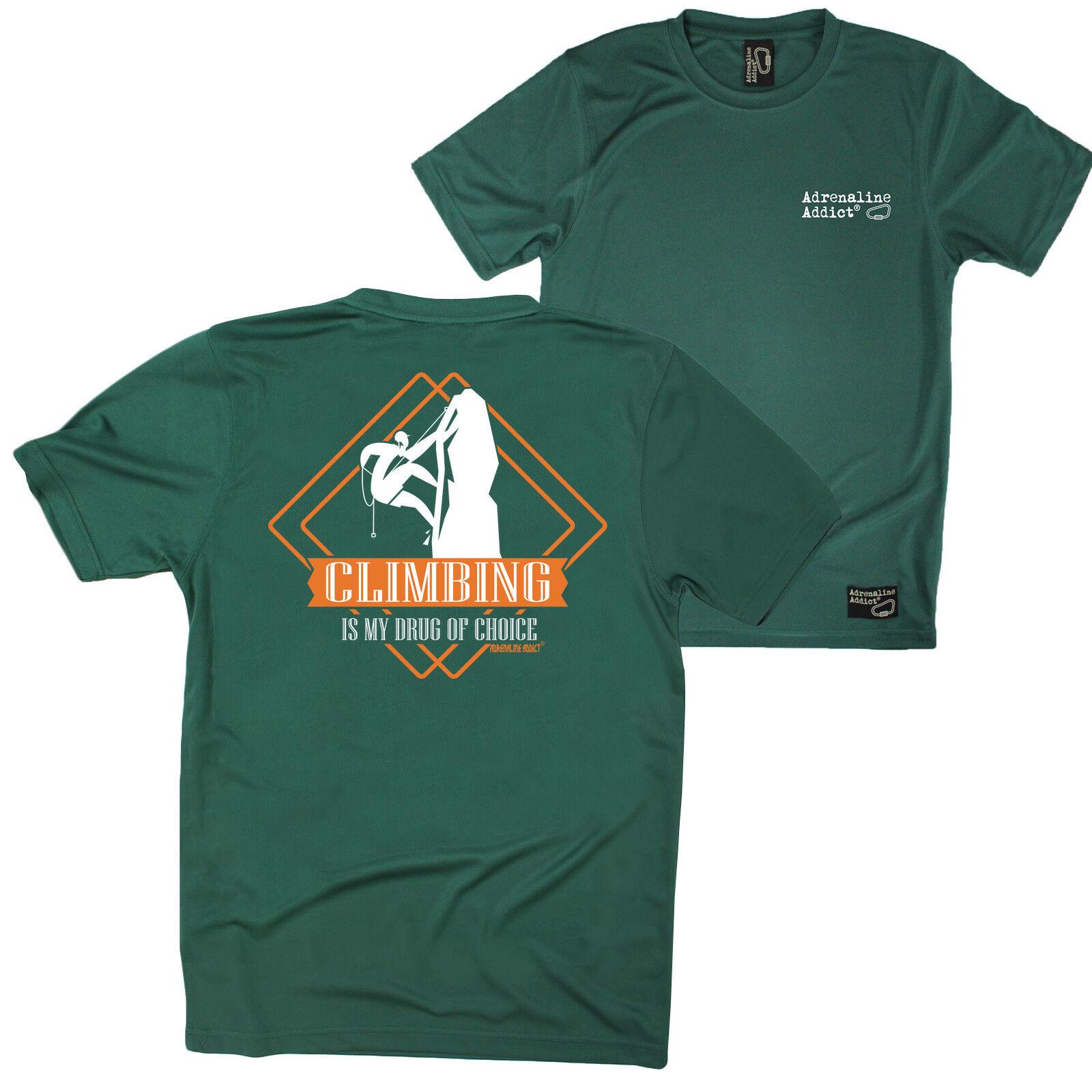 FB Rock Climbing Tee - Drug Of Choice Climbing - Dry Fit Performance T-Shirt