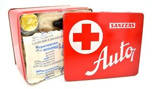 Vintage-Czech-First-Aid-Kit-With-Tin-Box-Vehicle-Auto-Medical-Kit-Army-Car