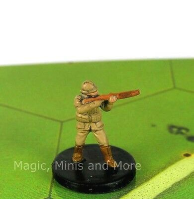 Axis /& Allies miniatures 1x x1 BEF Infantrymen Early War 1939-1941 NM with card