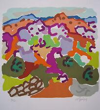 LAPICQUE Charles Lithographie lithograph signée num. paysage en Argolide 1964 *