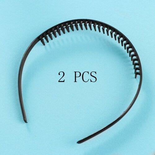 Mens Metal Toothed Sports Football Soccer Hair Headband Alice hair band Black UK