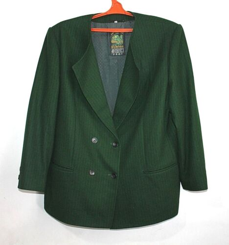 a Dachstein Giacca 46 righe German Wiled Wool verde Dress donna Coat Pure qwq1Tafx