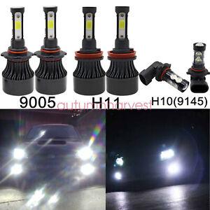 For Ford F-150 2015-2019 LED Front Headlight High Low Beam+Fog Light Bulbs Combo