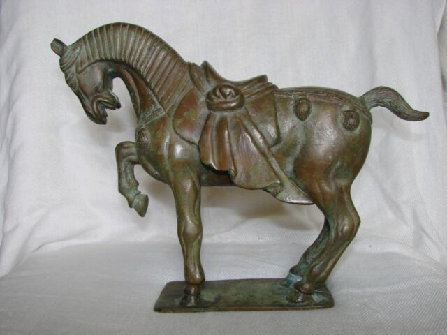 19/20 Century Chinese Bronze Horse in Tang Style