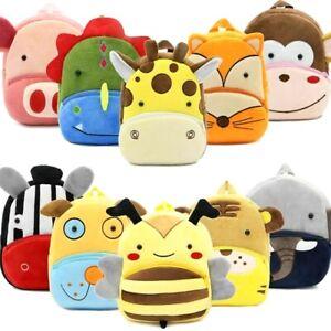 Plush-Toddler-Backpack-Soft-Cartoon-Animal-Cute-Kindergarten-School-Bag-for-Kids