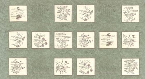 Moda Fabric Prairie Grass Pepper Grass Green Panel Sold Per Panel
