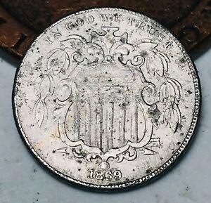 1869 Shield Nickel 5 Cents 5C High Grade Details Civil War Good US Coin CC4437