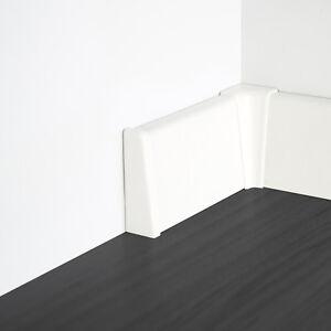 Bodenleisten Boden Sockel Leisten MDF Befestigungsclips 10-100 Meter Paket
