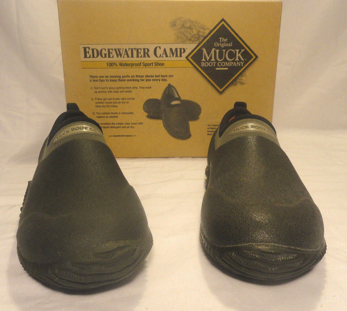 MUCK BOOTS SHOE, EDGEWATER MOSS UNISEX SLIP-ON SPORT SHOE, BOOTS Uomo SIZE 4 / Donna SIZE 5 0df64f