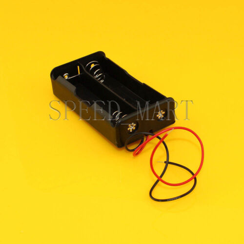 High Quality 18650 *2 Battery Storage Clip Holder Box Case with 15cm Lead