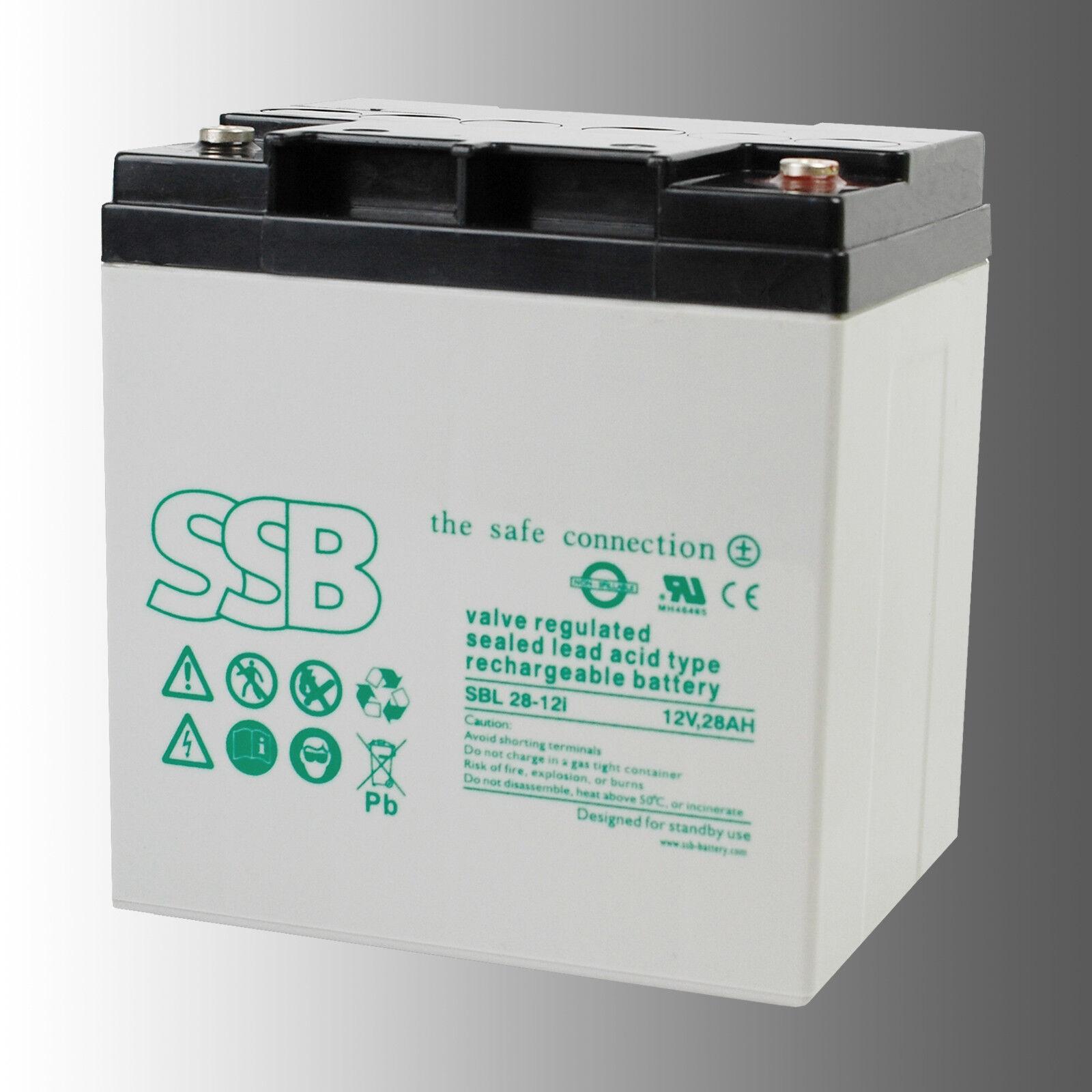 SSB Bleibatterie SBL 28-12i 12V 28Ah Longlife