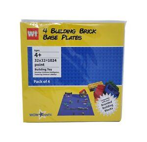 4-Base-Plate-Large-32x32-Studs-SS-25cm-Compatible-Construction-Block