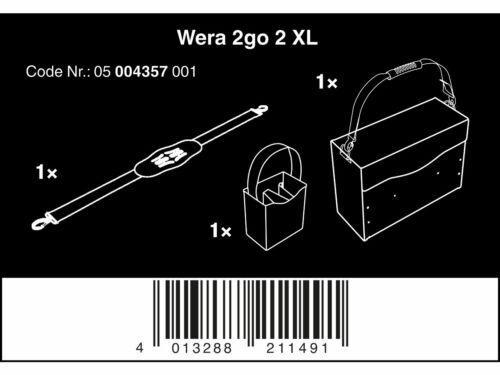 Wera 05004357001 2 Go 2 XL outil conteneur