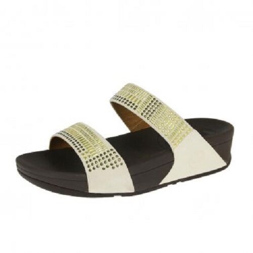FITFLOP Chada Studded Sandale Slide Urban Weiß Mosaic Sandale Studded Thong Flip Flops Sz 11 NEW 1db657