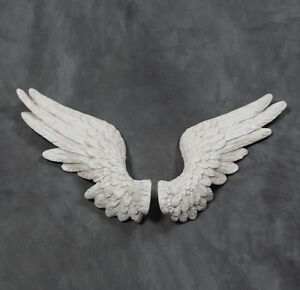 Image Is Loading Large Angel Wings Wall Hanging Art Decor Sculpture