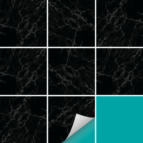 Pegatinas de azulejos todos los tamaños Decoración Mármol Negro precios favorables de relevo