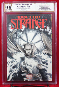 DOCTOR STRANGE #1 (Marvel) PGX (not CGC) 9.8 NM/MT Sketch Cover by CHAD KNOPF!!!