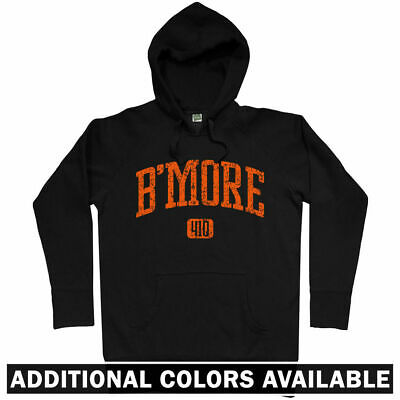 B/'More 410 Sweatshirt Men S to 3XL Bmore Baltimore Orioles Ravens Crewneck