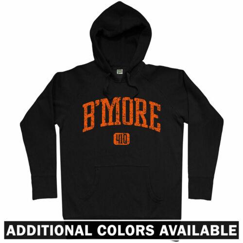 Bmore Charm City Orioles Ravens Club Men S-3XL B/'more 410 Baltimore Hoodie