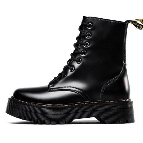 Dr.martins Boots Black Platform for Women/'s Leather shoes US Uk All Sizes jadon