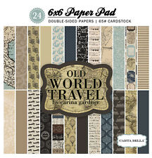 Carta Bella Paper Old World Traveler Collection 6 x 6 Paper Pad 2016