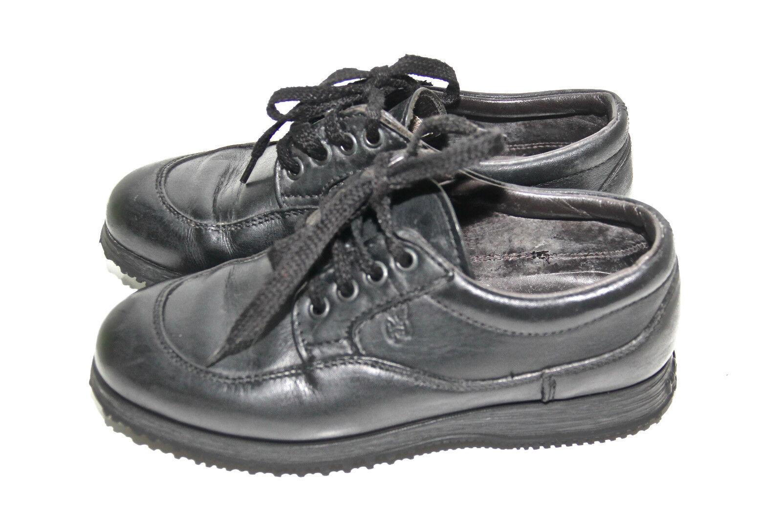 luxueuses sneakers en cuir noir ÉTAT HOGAN pointure 35 EXCELLENT ÉTAT noir modèle mixte d56023