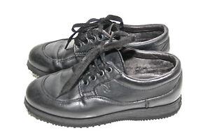 Caricamento dell immagine in corso lussuosi-scarpe-sportive-di-cuoio-nero- HOGAN-taglia- 8980d3f3e45