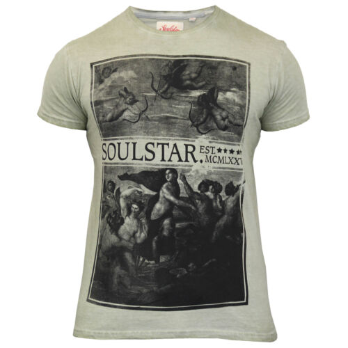 Homme burnout t shirt par soul star à manches courtes