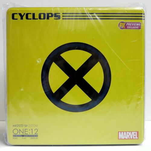 In STOCK Mezco One 12 Marvel Universe Classic Cyclops PX Exclusive Action Figure