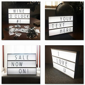 A4-Light-Up-Message-Notice-Note-Pad-Board-Letter-Box-LED-Sign-Wedding-Party-Bar