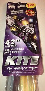 Vintage-1984-Gayla-Thunderbirds-Keel-Guided-Kite-42-034-Wing-Span-114-SEALED