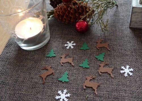 Streudeko navidad copos de nieve tannenbaum los renos centro de mesa adornos