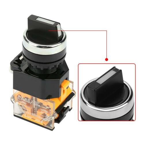 22mm 10A 2-Position Auto Reset Selector Momentary Rotary Switch LA38-11BX22