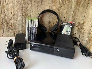 Xbox-360-250GB-CONSOLE-E-AURICOLARE-cavo-HDMI-fascio-Call-Of-Duty-Nero-Ops