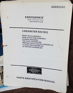 Centronics Linewriter 400/800 Parts Manual