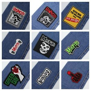 PUNK-ROCK-PATCH-Embroidered-Iron-On-Patch-CARTOON-Sew-On-Patches-UK-STOCK