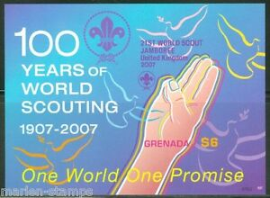 GRENADA SCOTT#3633 100 YEARS OF WORLD SCOUTING S/S MINT NH IMPERFORATED
