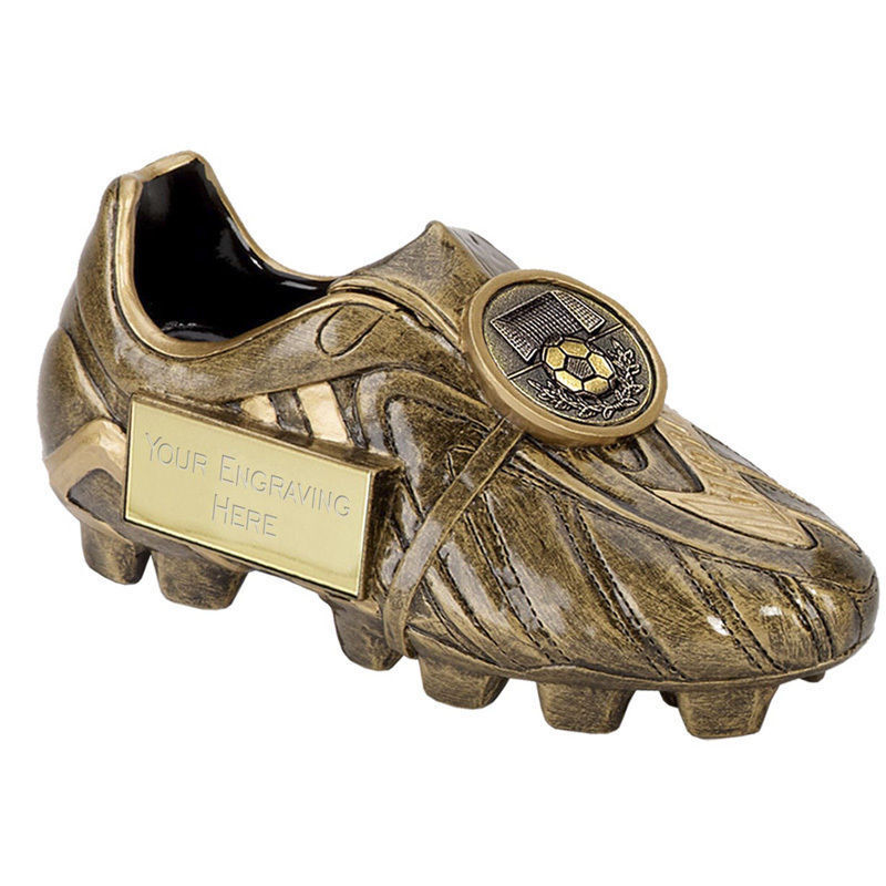 A1305 x 20 RESIN FOOTBALL BOOT TROPHY SIZE 12.5CM FREE ENGRAVING - Man of Match