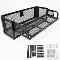 Atv Utv Universal Rear Drop Basket Rack Steel Cargo Hunting