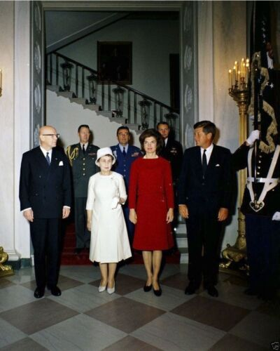 President John F Kennedy and Jackie with Finland leader New 8x10 Photo