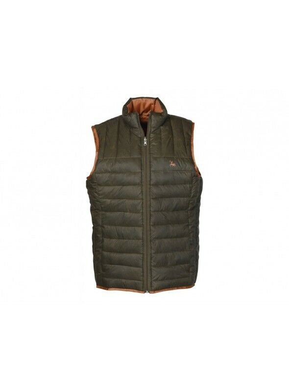 Verney Carron Carron Verney Weekender  Herren Quilted Reversible Gilet In Chocolate Größe Large 579bdd