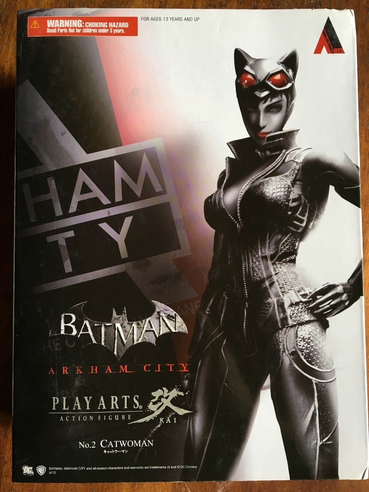 BATMAN CATWOMAN ARKHAM CITY PLAY ARTS ACTION 22.9cm FIGURE KAI BRAND NEW BOXED