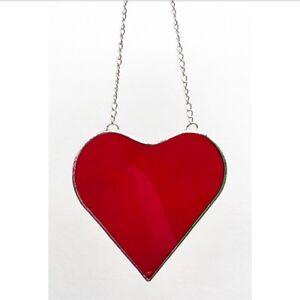 95e8dd2c9294 Image is loading Handmade-Stained-Glass-Love-Heart-Suncatcher-Tiffany-Glass-