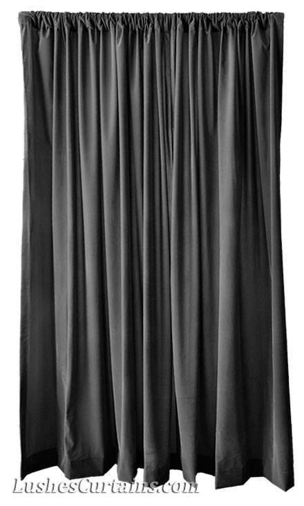 Modern personalisiert Fenster Vorhänge solider schwarz Samt 274cm Vorhang | Neuer Stil